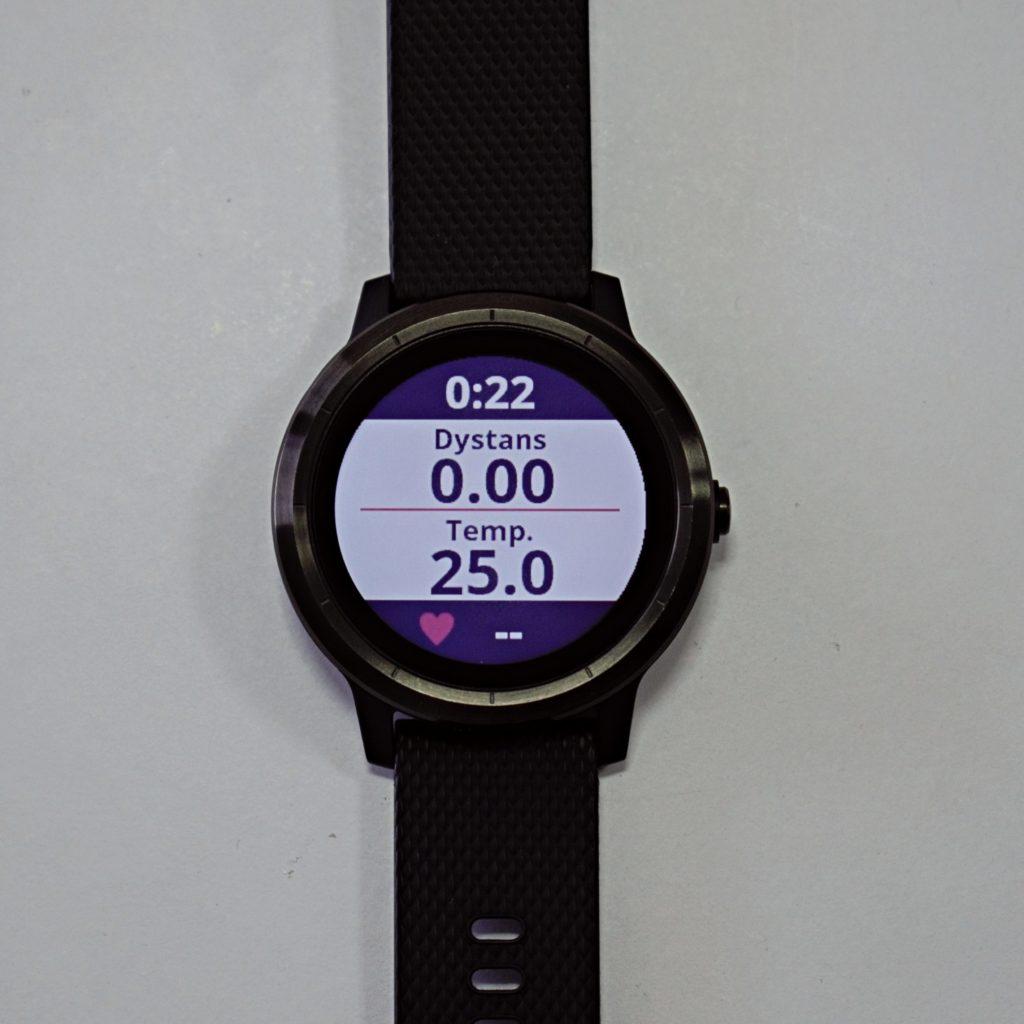 Temperatura czujnika tempe na zegarku Garmin