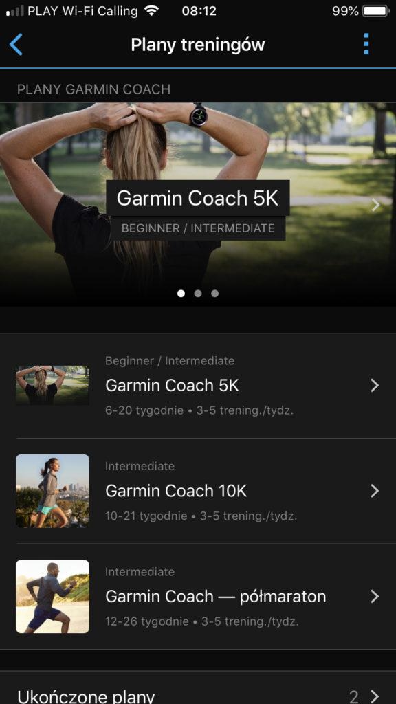 Garmin Coach nowy
